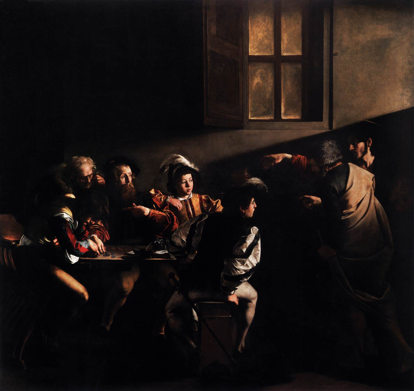 The Calling Of Saint Matthew Caravaggio 3