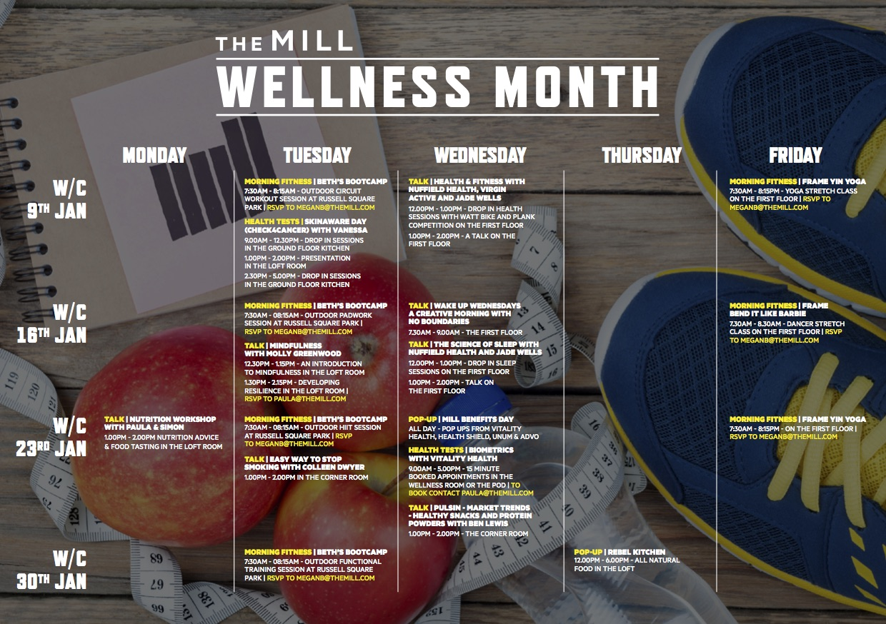 Wellness Timetable 2017